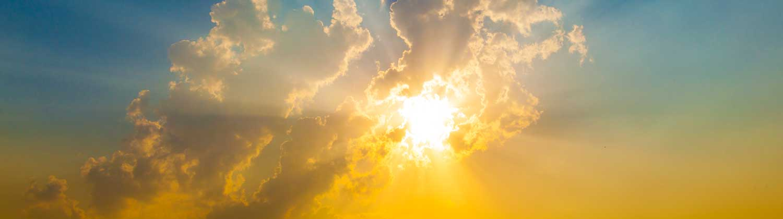sun-rising-with-blue-sky